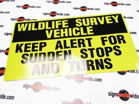 Wildlife Survey Vehicle Reflective Magnetic Sign Image 1