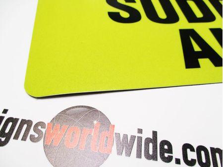 Wildlife Survey Vehicle Reflective Magnetic Sign Image 2