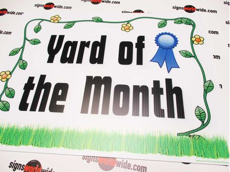 Yard of the Month Floral Sign Image 1