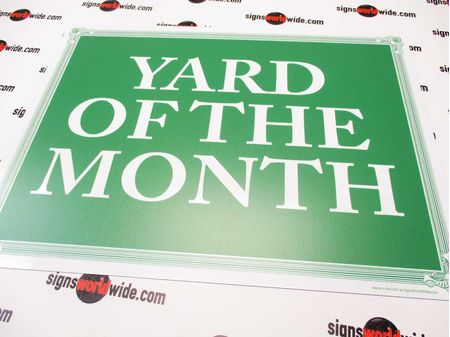 Yard of the Month G&W Aluminum Sign Image 1