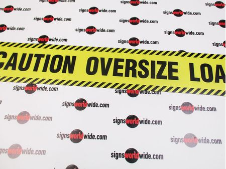 Caution Oversize Load Caution Stripe Sign Image 1