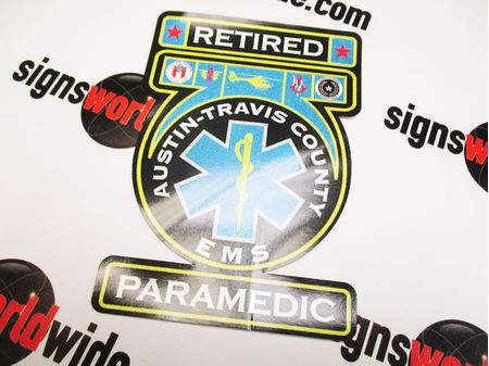 Retired Austin Travis County EMS Second Surface Refl Decal Image 1