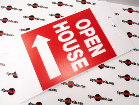 Open house laid flat sign image