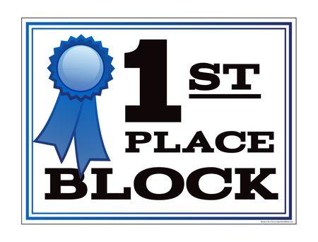 1st Place Block yard sign image