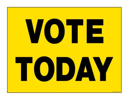 Vote Today sign image