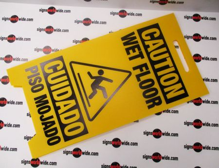 Caution Wet Floor A-frame sign image 2