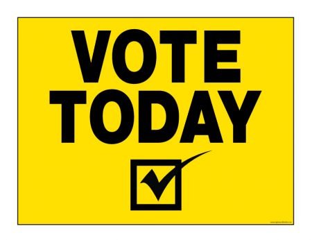 Vote Today check mark sign image