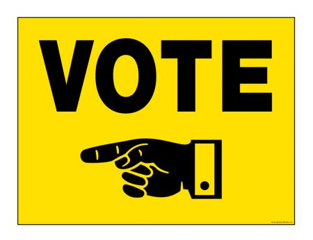 Vote Today left sign image