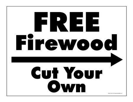 Free firewood right arrow sign image