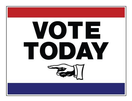 Vote Today left arrow 18x24 sign image