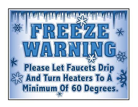 Freeze Warning 2 sign image