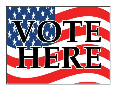 Vote Here decal image