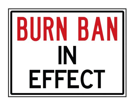 Burn Ban sign image