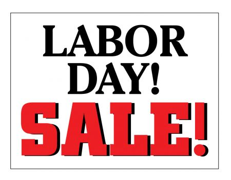 Labor Day Sale sign image