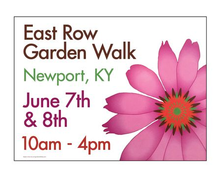 East Row Garden Walk yard sign image