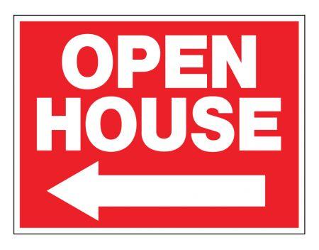 Open House left arrow sign image