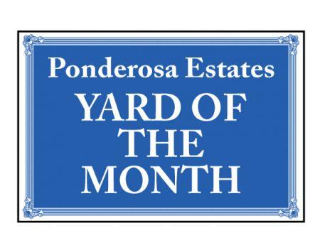 Ponderosa Estates sign image