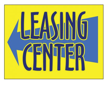 Leasing Center sign image