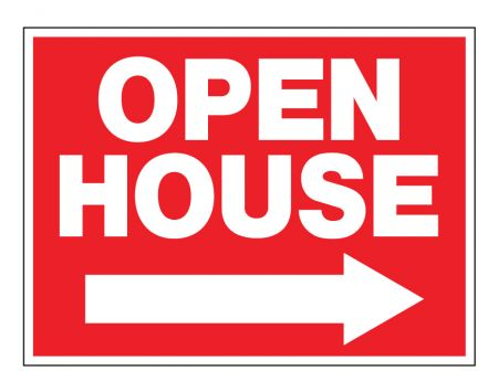 Open House right arrow yard sign