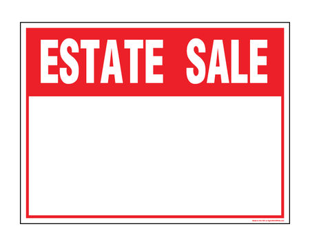 Estate sale v2 sign image