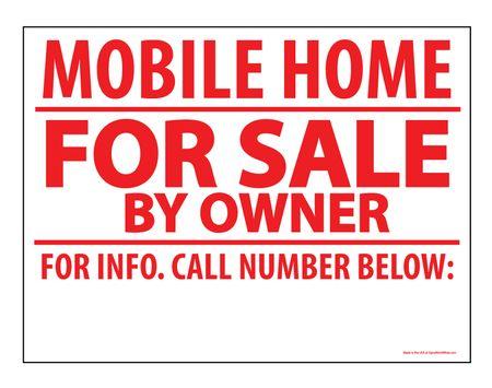 Mobile Home FS BO sign image