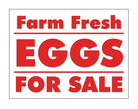 Farm Fresh Eggs sign image
