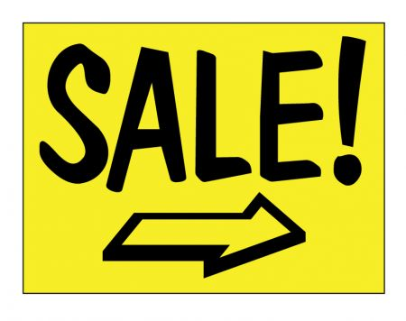 Sale right arrow sign image