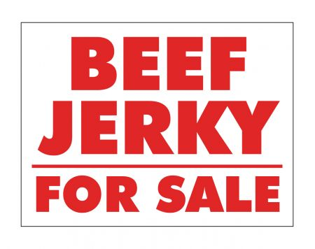 Beef Jerky For Sale sign image