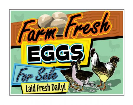 Farm Fresh Eggs Laid Fresh sign image