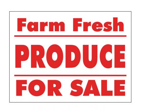 Farm Fresh Produce sign image