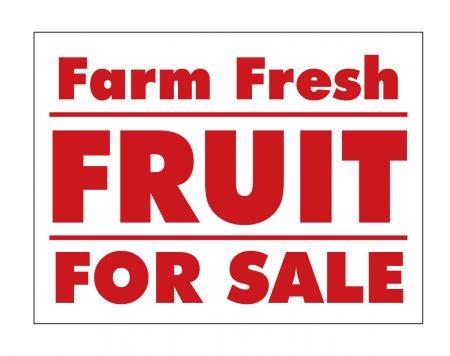 Farm Fresh Fruit sign image