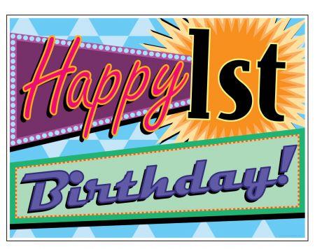 Happy Birthday Number sign image