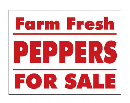 Farm Fresh Peppers sign image