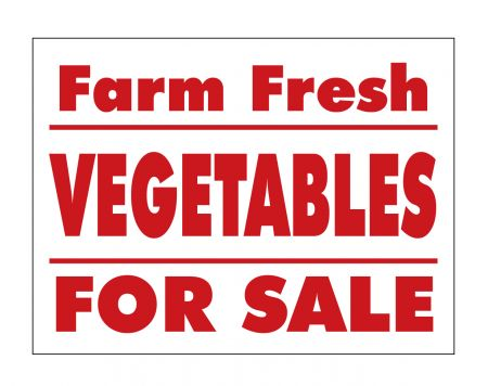 Farm Fresh Vegetables sign image