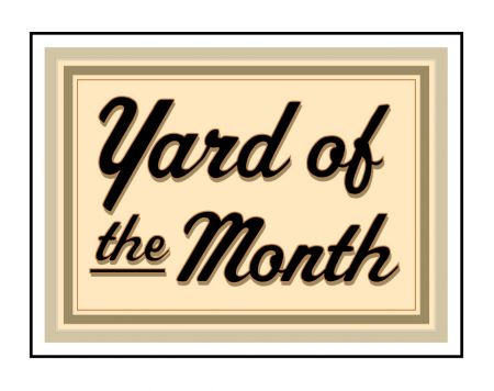 Beige Yard of the Month aluminum sign image
