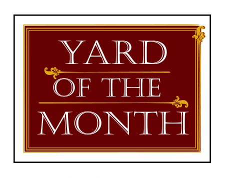Maroon Yard of the Month sign image