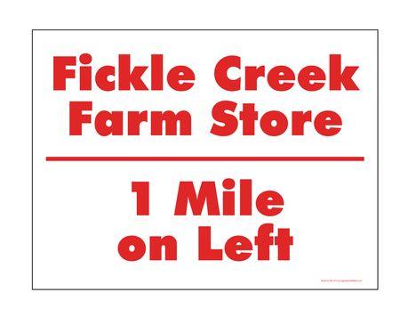 Fickle Creek 1 Mile sign image