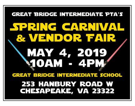 Great Bridge PTA Spring Carnival Yard Sign Image