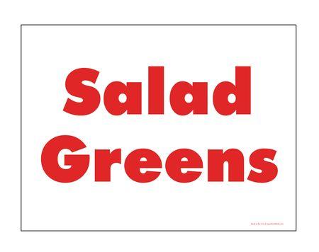 Salad Greens sign image