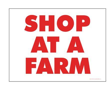 Shop At A Farm sign image
