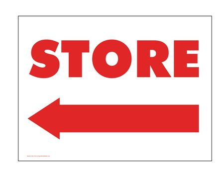 Store Directional sign image