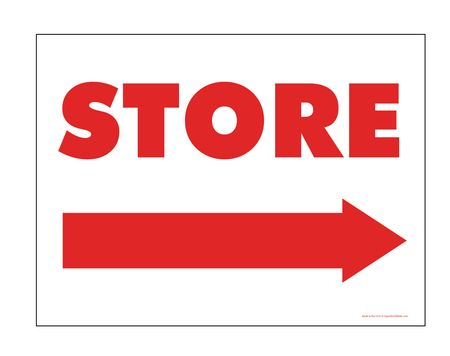 Store Directional Right Arrow Sign Image