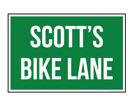 Scotts Bike Lane Aluminum sign image
