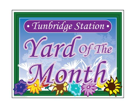 Tunbridge Station Yard of the Month sign image