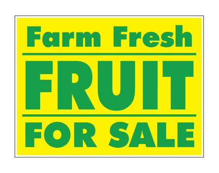 Farm Fresh Fruit For Sale Yellow and Green yard sign image
