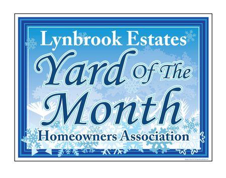 Lynbrook Estates YOTM Snowflakes Yard Sign