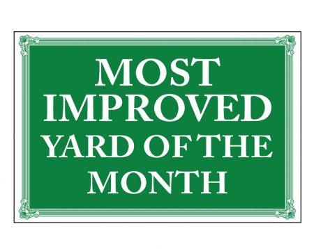 Most Improved sign image
