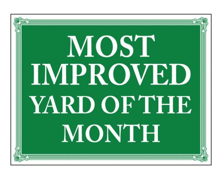 Most improved yard sign image