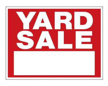 Yard sale R&W sign image