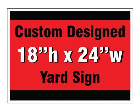 Custom design yard sign image